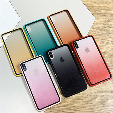 Недорогие Кейсы для iPhone-Кейс для Назначение Apple iPhone XS / iPhone XR / iPhone XS Max Прозрачный Кейс на заднюю панель Прозрачный / Градиент цвета Акрил