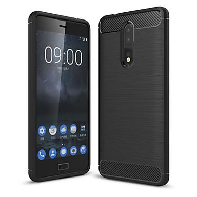 Недорогие Чехлы и кейсы для Nokia-Кейс для Назначение Nokia Nokia 8 / 8 Sirocco Защита от пыли Кейс на заднюю панель Однотонный Мягкий Углеродное волокно