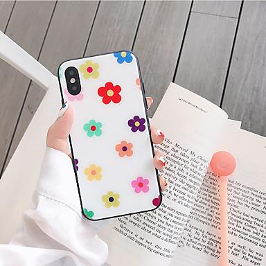 voordelige iPhone-hoesjes-hoesje Voor Apple iPhone XS / iPhone XR / iPhone XS Max Stofbestendig / Patroon Achterkant Bloem Gehard glas