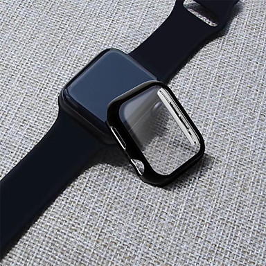 voordelige Smartwatch screenprotectors-pc met screen protector full body beschermhoes voor apple watch serie 4 3 2 1 44mm / 40mm / 38 / 42mm beschermende schaal