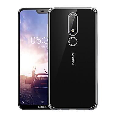Недорогие Чехлы и кейсы для Nokia-Чехол NASTOP для Nokia Nokia 6 / Nokia 6.1 Plus прозрачная задняя крышка сплошного цвета мягкой ТПУ для Nokia X5 / Nokia 5.1 плюс
