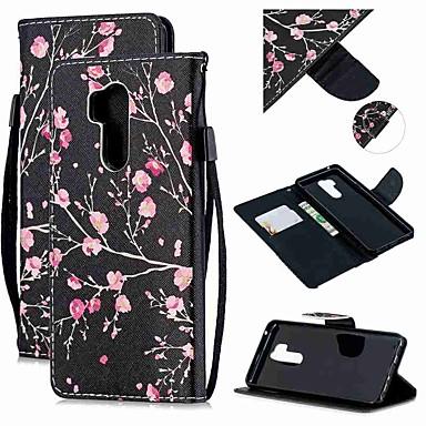 رخيصةأون LG أغطية / كفرات-غطاء من أجل LG LG Q Stylus / LG StyLo 3 / LG Stylo 4 محفظة / حامل البطاقات / ضد الصدمات غطاء كامل للجسم زهور جلد PU