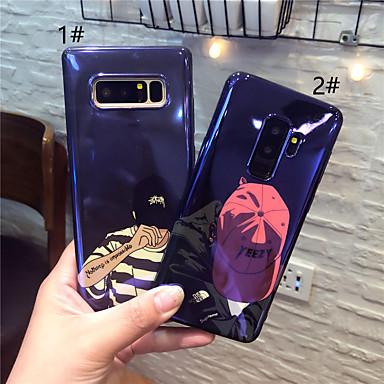 Недорогие Чехлы и кейсы для Galaxy Note-Кейс для Назначение SSamsung Galaxy Note 9 / Note 8 IMD / С узором Кейс на заднюю панель Мультипликация Мягкий ТПУ