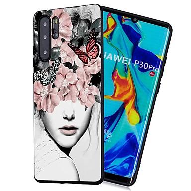 غطاء من أجل Huawei Huawei P20 / Huawei P20 Pro / Huawei P20 lite ضد الصدمات / مثلج / نموذج غطاء خلفي امرآة مثيرة ناعم TPU