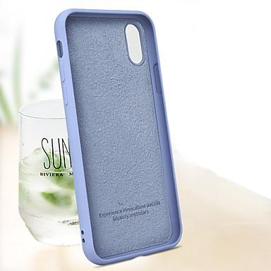 Недорогие Кейсы для iPhone 7-Кейс для Назначение Apple iPhone XS / iPhone XR / iPhone XS Max Защита от удара Кейс на заднюю панель Однотонный Мягкий ТПУ / Силикон / Хлопковая ткань