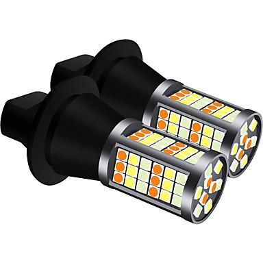 Недорогие Дневные фары-2 шт. / Компл. Drl led bau15s ba15s p21w py21w s25 t20 7440 81smd 3030 ночные дневные ходовые огни&лампочки накаливания, поворотники, трехцветная модель, лед, синий, желтый