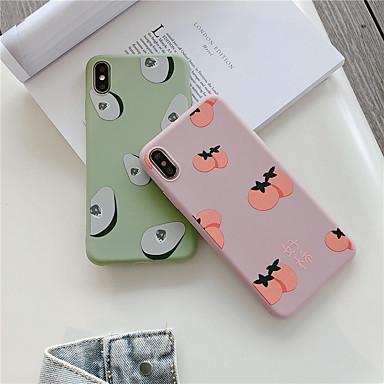 voordelige iPhone-hoesjes-hoesje Voor Apple iPhone XS / iPhone XR / iPhone XS Max IMD / Patroon Achterkant Voedsel Zacht TPU