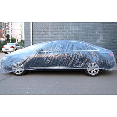 olcso Autóvédők-eldobható autós fedél vízálló átlátszó műanyag porálló fedél autó esővédő