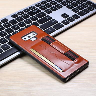 Недорогие Чехлы и кейсы для Galaxy Note-Кейс для Назначение SSamsung Galaxy Note 9 Бумажник для карт Кейс на заднюю панель Однотонный Кожа PU