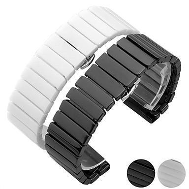Недорогие Часы для Samsung-Ремешок для часов для Gear S3 Frontier / Gear S3 Classic / Gear S3 Classic LTE Samsung Galaxy Бабочка Пряжка Керамика Повязка на запястье