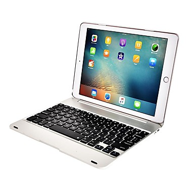 رخيصةأون أغطية أيباد-غطاء من أجل Apple iPad Air / iPad Air 2 / iPad Pro 9.7'' ضد الصدمات / ضد الغبار / مع لوحة مفاتيح غطاء كامل للجسم لون سادة قاسي معدن
