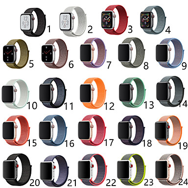 voordelige Apple Watch-bandjes-Horlogeband voor Apple Watch Series 5/4/3/2/1 Apple Sportband Nylon Polsband