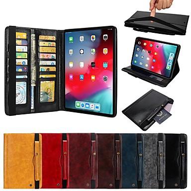 voordelige iPhone-hoesjes-hoesje voor apple ipad pro 11 '' auto slaap / waak / flip / shockproof full body koffers stevig gekleurd hard leder / pu leer voor ipad pro 11 ''