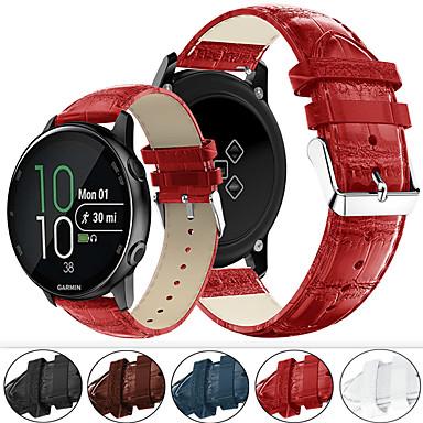 Недорогие Аксессуары для смарт-часов-браслет из натуральной кожи ремешок для часов ремешок для часов garmin vivoactive 3 / forerunner 245m / forerunner 645 аксессуары для умных часов браслет