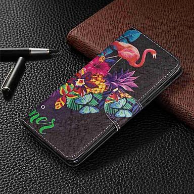 Недорогие Чехлы и кейсы для Xiaomi-Кейс для Назначение Xiaomi Xiaomi Redmi 6 Pro / Xiaomi Redmi Note 7 / Xiaomi Redmi 7 Кошелек / Бумажник для карт / со стендом Чехол Животное Твердый Кожа PU