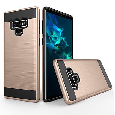 Недорогие Чехлы и кейсы для Galaxy Note-Кейс для Назначение SSamsung Galaxy Note 9 Защита от пыли / Матовое Кейс на заднюю панель Однотонный ПК