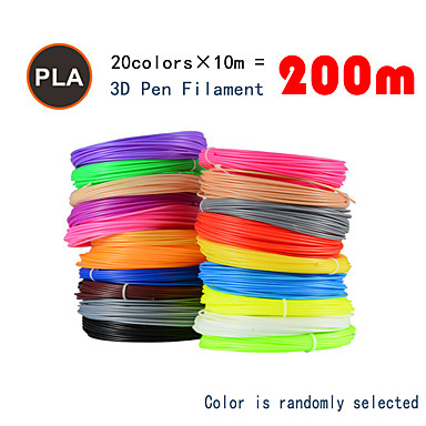 billige Penner til 3D-printing-myriwell pla 1.75mm filament 20colors 10m tilfeldig farge valgt 3d trykt pla 1,75mm 3d penn plast 3d skriver pla filament 3d penner pla miljøsikkerhet