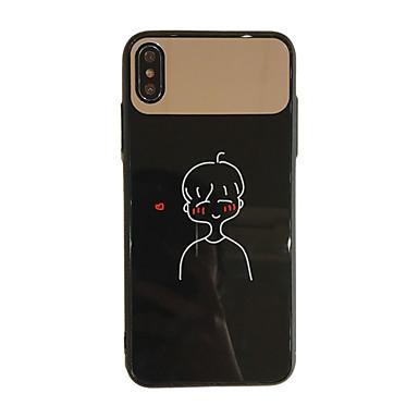 Недорогие Кейсы для iPhone 7-Кейс для Назначение Apple iPhone XS / iPhone XS Max / iPhone 8 Pluss Защита от пыли / Зеркальная поверхность / С узором Кейс на заднюю панель Соблазнительная девушка / Мультипликация