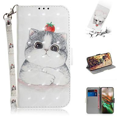 povoljno Maske za mobitele-Θήκη Za Samsung Galaxy Note 10.1 Novčanik / Utor za kartice / sa stalkom Korice Životinja / 3D likovi PU koža
