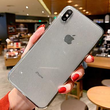 Недорогие Кейсы для iPhone 7-Кейс для Назначение Apple iPhone XR / iPhone XS Max / iPhone X Сияние и блеск Кейс на заднюю панель Сияние и блеск Мягкий ТПУ