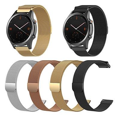 voordelige Horlogebandjes voor Ticwatch-Horlogeband voor TicWatch C2 / Ticwatch 2 / Ticwatch E TicWatch Sportband / Milanese lus Roestvrij staal Polsband
