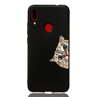 Недорогие Чехлы и кейсы для Xiaomi-чехол для xiaomi redmi note 6 / pocophone f1 / redmi 6 pro противоударный / матовый / узор с задней крышкой cat tpu soft для redmi k20 / k20 pro / redmi 7 / redmi note 7 / mi 9 / mi 8/8 lite / redmi