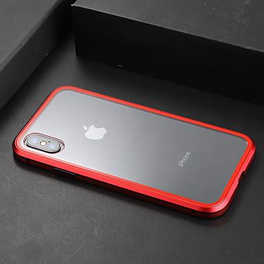 Недорогие Кейсы для iPhone 7 Plus-Кейс для Назначение Apple iPhone XS / iPhone XR / iPhone XS Max Прозрачный Кейс на заднюю панель Прозрачный Твердый Закаленное стекло