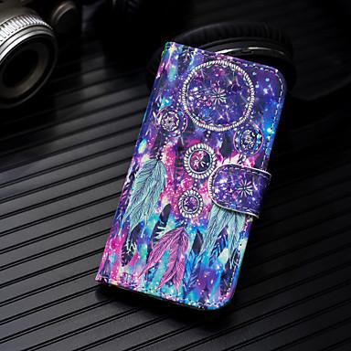 voordelige Galaxy A-serie hoesjes / covers-hoesje Voor Samsung Galaxy Galaxy A7(2018) / A3 (2017) / A5 (2017) Portemonnee / Kaarthouder / met standaard Volledig hoesje Veren Hard PU-nahka