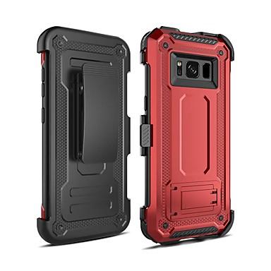 voordelige Galaxy S-serie hoesjes / covers-hoesje Voor Samsung Galaxy S8 Plus Schokbestendig / met standaard Achterkant Schild PC