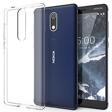 Недорогие Чехлы и кейсы для Nokia-Кейс для Назначение Nokia Nokia 5.1 / Nokia 1 Plus Защита от пыли Кейс на заднюю панель Однотонный Мягкий ТПУ