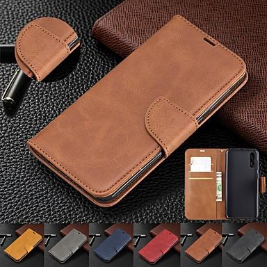 Недорогие Кейсы для iPhone-чехол для iphone xs max / xs / xr / 8 plus / 7 plus 6s plus магнитный флип кожаный бумажник держатель карты мобильного телефона чехол