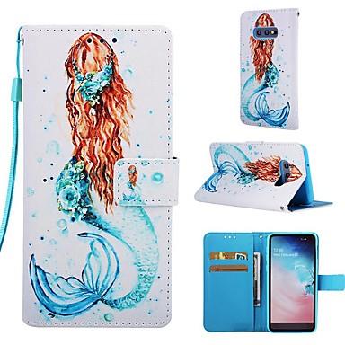 Недорогие Чехлы и кейсы для Galaxy S-Кейс для Назначение SSamsung Galaxy S9 / S9 Plus / S8 Plus Кошелек / Бумажник для карт / со стендом Чехол Соблазнительная девушка Твердый Кожа PU