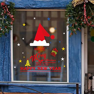 نافذة فيلم الكرتون عيد الميلاد&amp؛ amp؛ amp ملصقات الديكور الحيوان / عطلة نمط / شخصية / هندسية pvc (بولي فينيل كلوريد) ملصقا نافذة