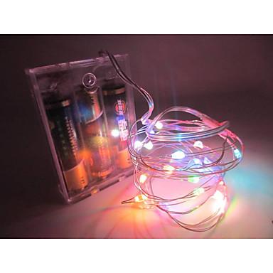 رخيصةأون شرائط ضوء مرنة LED-10m شرائط قابلة للانثناء لأضواء LED / أضواء سلسلة 100 المصابيح أبيض دافئ / أبيض / أحمر إبداعي / حزب / زفاف بطاريات آ بالطاقة