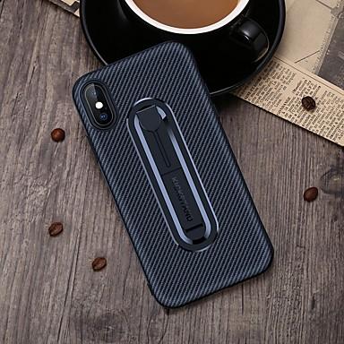 Недорогие Кейсы для iPhone 6-чехол для яблока iphone 6 / iphone xs max с подставкой задняя крышка сплошное цветное мягкое углеродное волокно для iphone 5 / iphone se / 5s / iphone 6