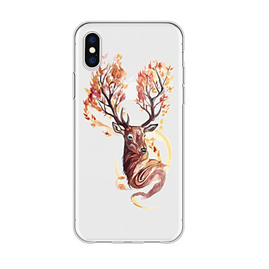 voordelige iPhone-hoesjes-hoesje voor iphone x xs max xr xs achterkant zachte hoes tpu eenvoudige elanden zachte tpu voor iphone5 5s se 6 6p 6s sp 7 7p 8 8p16 * 8 * 1