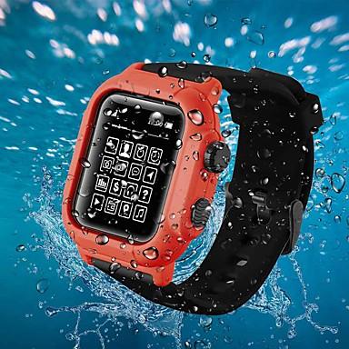 voordelige Smartwatch-accessoires-koffer met band voor apple watch serie 2 / apple watch serie 3 / apple watch serie 4 plastic / siliconen compatibiliteit apple