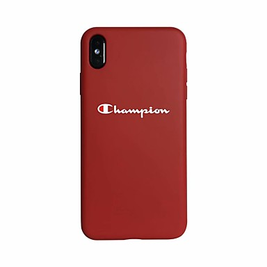 voordelige iPhone 6 hoesjes-hoesje Voor Apple iPhone XS / iPhone XR / iPhone XS Max Glow in the dark / Ultradun Achterkant Woord / tekst Zacht silica Gel