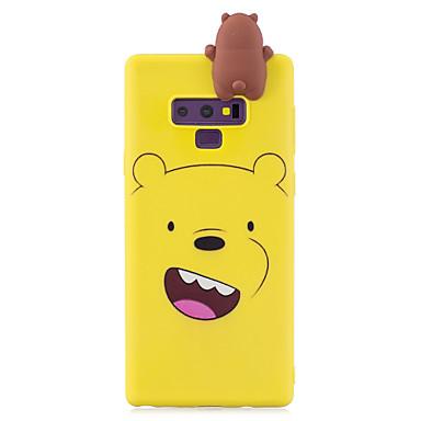 voordelige Galaxy Note-serie hoesjes / covers-hoesje Voor Samsung Galaxy Note 9 Schokbestendig / Stofbestendig Achterkant dier / Cartoon / 3D Cartoon Zacht TPU / silica Gel
