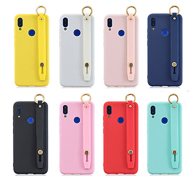 رخيصةأون Xiaomi أغطية / كفرات-غطاء من أجل Xiaomi Huawei Nova 3i / Huawei Honor 9 Lite / Huawei Honor 8X مع حامل / مثلج غطاء خلفي لون سادة TPU