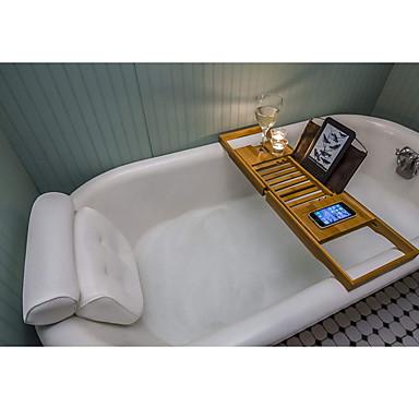 وسادة حمام وسادة حوض الاستحمام مع دعم الرأس والرقبة والكتف والظهر. تجربة للاسترخاء النهائي غير قابلة للانزلاق وسميكة وناعمة وكبيرة