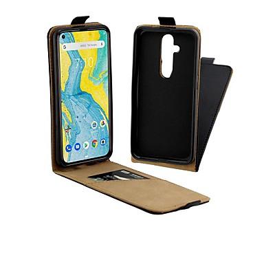 Недорогие Чехлы и кейсы для Nokia-чехол для nokia 4.2 / nokia 3.2 магнитный / флип / противоударный чехлы для всего тела однотонная твердая натуральная кожа для nokia x71 / nokia 1 plus / nokia 2 / nokia 7.1 / nokia 7 plus / nokia 6