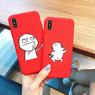 رخيصةأون أغطية أيفون-غطاء من أجل Apple iPhone XS / iPhone XR / iPhone XS Max ضد الغبار / نموذج غطاء خلفي كارتون TPU