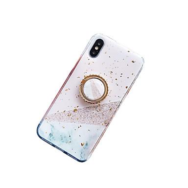 voordelige iPhone X hoesjes-hoesje voor Apple iPhone XS Max / iPhone 8 plus stofdicht / ringhouder / IMD achterkant marmer / hart zachte TPU voor iPhone 7/7 plus / 8/6/6 plus / xr / x / xs