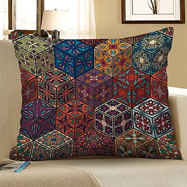 ราคาถูก หมอน-1 ชิ้น ผ้าลินิน Pillow Cover, อาหาร พิมพ์ดอกไม้ ไม่เป็นทางการ ทุ่งหญ้าชนบท ปาหมอน