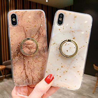 رخيصةأون أغطية أيفون-غطاء من أجل Apple iPhone XS / iPhone XR / iPhone XS Max مغناطيس غطاء خلفي حجر كريم TPU