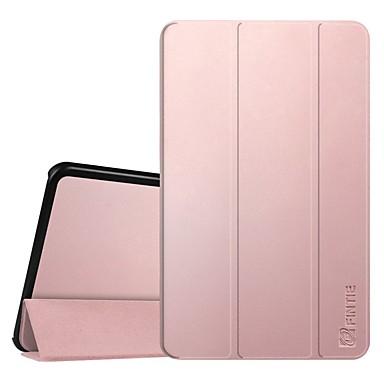 Недорогие Чехлы и кейсы для Samsung Tab-Кейс для Назначение SSamsung Galaxy Tab A 10.1 (2016) Защита от пыли / со стендом / Флип Чехол Однотонный / Цвет неба / Мультипликация Твердый Кожа PU