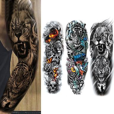 billige Midlertidige tatoveringer-3 pcs Midlertidige Tatoveringer Øko Venlig / Kan kun bruges en gang Krop / brachium / Ben Kort Papir