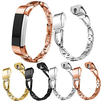 voordelige Smartwatch-accessoires-Horlogeband voor Fitbit Alta HR / Fitbit Alta Fitbit Sieradenontwerp Roestvrij staal Polsband