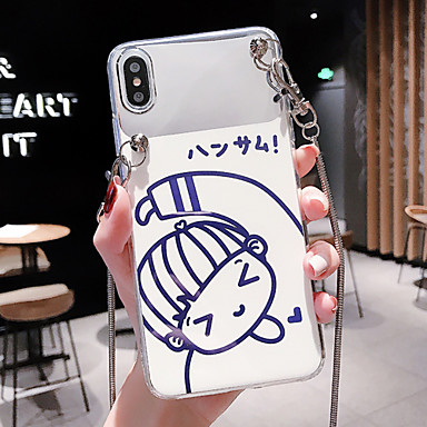 voordelige iPhone 6 Plus hoesjes-hoesje Voor Apple iPhone XS / iPhone XR / iPhone XS Max Stofbestendig / IMD / Patroon Achterkant Sexy dame / Cartoon PC